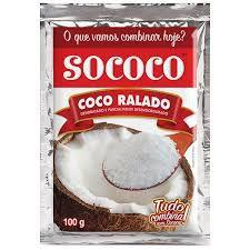Coco ralado Sococo - Pacote 100g