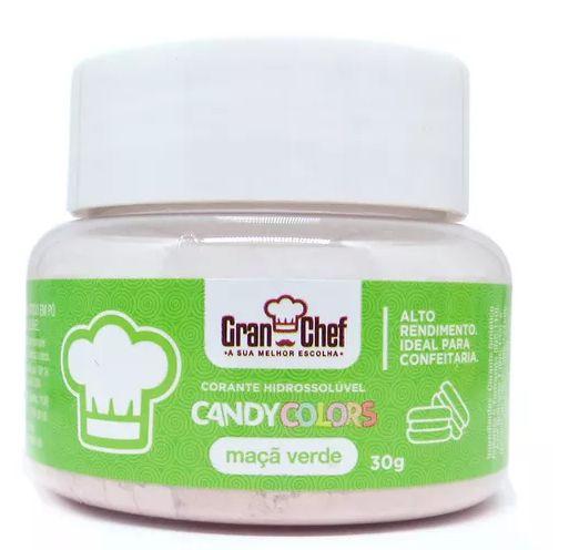Corante Candy Colors Hidrossolúvel Gran Chef - Maçã Verde 30g