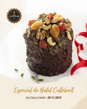 Curso Presencial: Especial de Natal Callebaut com Gláucia Scheffel - 28.11.2019 (quinta)