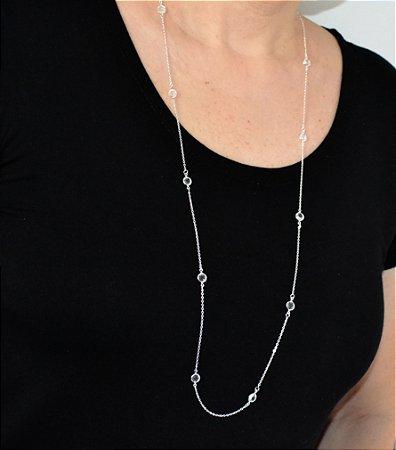 Colar Tiffany Inspired Folheado Prata