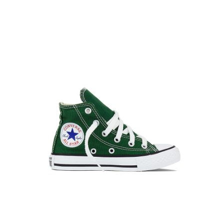 Tênis Converse Kids All Star Cano Alto Chuck Taylor - Verde Floresta