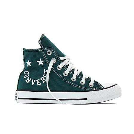 Tênis Converse All Star Chuck Taylor Hi Smile - Verde Escuro