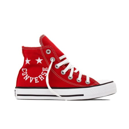 Tênis Converse All Star Chuck Taylor Hi Smile - Vermelho
