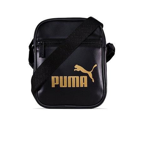 Bag Puma Shoulder Core UP Portable Couro - Black