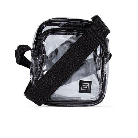 Bag Mary Jane Shoulder Transparente Feminino - Preto