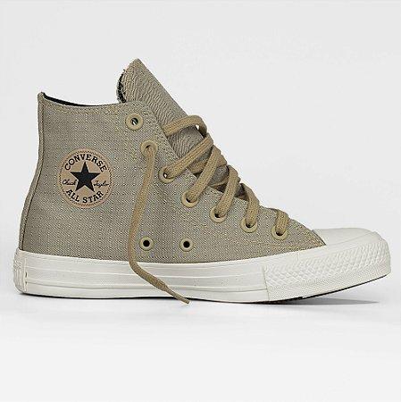 Tênis Converse All Star Chuck Taylor Hi - Caqui/Preto