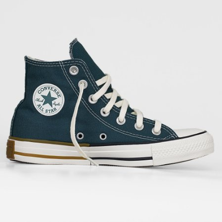 Tênis Converse All Star Hi Cano Alto - Verde Escuro/Preto