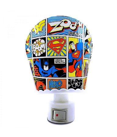 Luminária LED Liga da Justiça Gibi