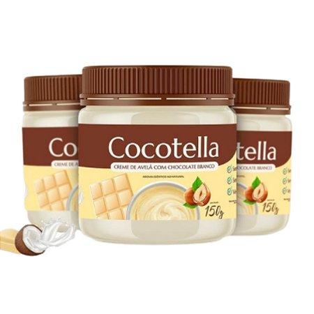 Creme de Avelã c/ Chocolate Branco Cocotella 150g - Cocodensado
