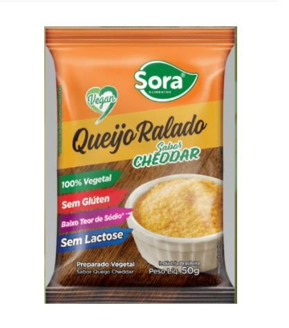 Queijo Ralado Vegetal Cheddar 50g - Sora