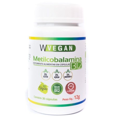 Vitamina B12 30 Caps - Wvegan