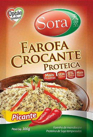 Farofa Proteica Tempero Picante 300g - Sora