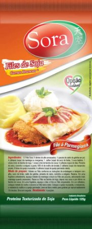 Files de Soja Sabor Carne Branca 125g - Sora