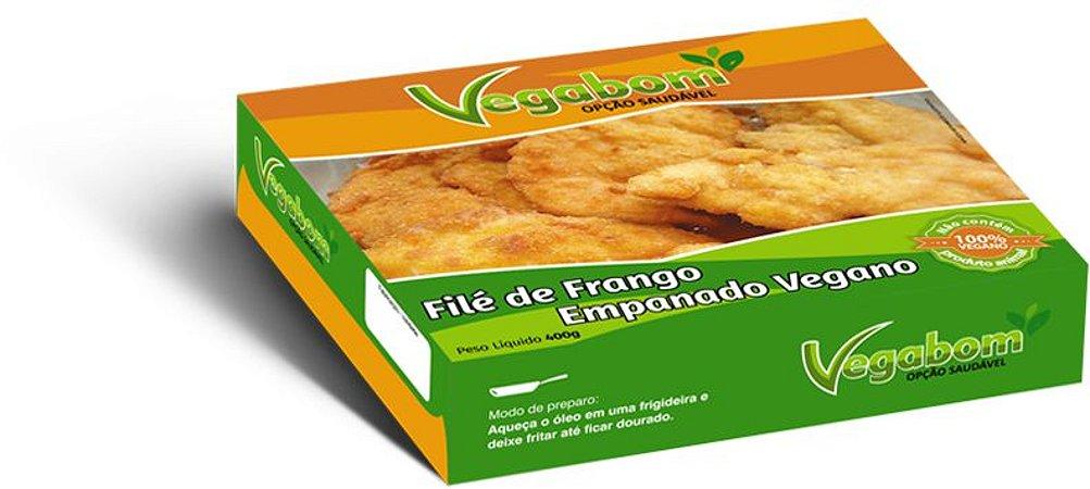 Filé de Frango Empanado Vegano 400g - Vegabom