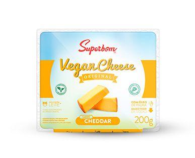 Queijo Vegano Cheddar 200g - Superbom