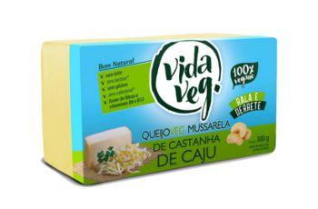 Queijo Vegano Mussarela de Castanha de Cajú 300g - Vida Veg