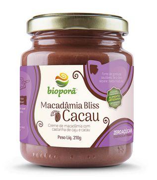 Macadâmia Bliss Cacau 210g - Bioporã