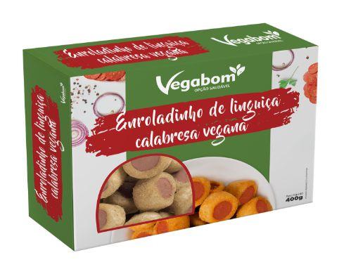 Enroladinho de Linguiça Vegana 400g - Vegabom