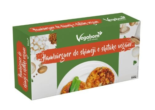 Hamburguer Vegano de Shimeji e Shitake 320g - Vegabom