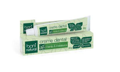 Creme Dental Menta e Melaleuca 90g - Boni Natural