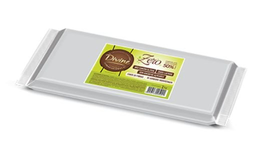 Chocolate Zero 50% Meio Amargo 1kg - Divine