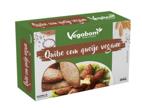 Quibe c/ Queijo Vegano 400g - Vegabom