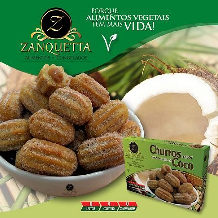 Churros c/ Doce de Leite de Coco 500g - Zanquetta