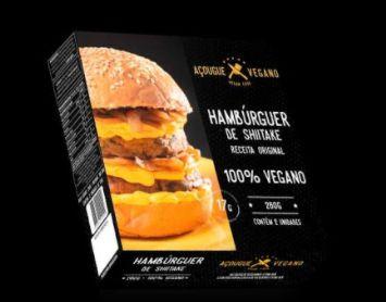 Hamburguer de Shitake 260g - Açougue Vegano