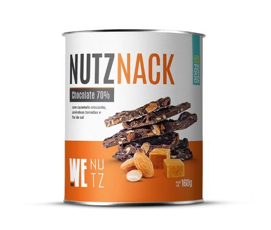 Snack de Chocolate 70% c/ Caramelo 160g - We Nutz