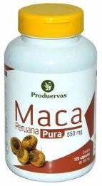 Maca Peruana PURA 550 Mg 120 Cápsulas - Produervas