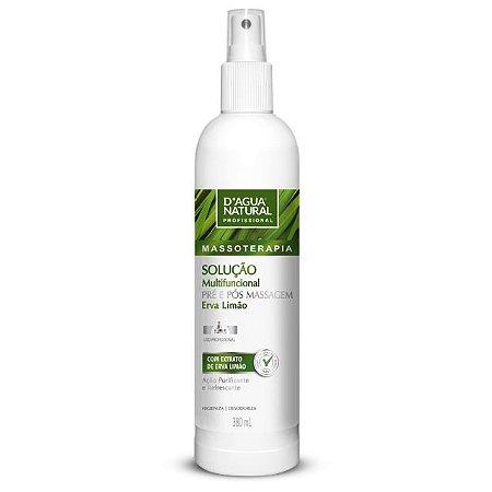 Solução Multifuncional Pré E Pós Massagem Erva Limão 380ml D'Agua Natural