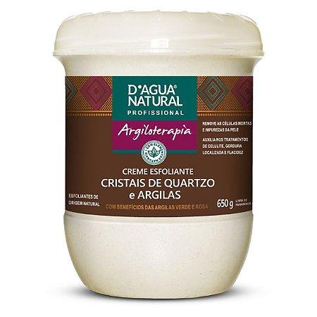 Creme Esfoliante Cristais de Quartzo e Argilas 650G D'Agua Natural