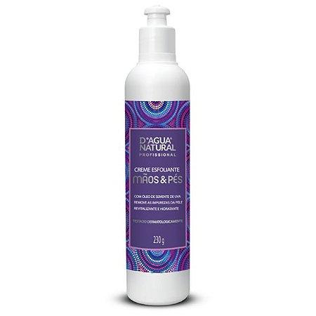 Creme Esfoliante Mãos e Pés 230g D'Agua Natural