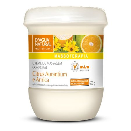 Creme de Massagem Citrus 650g D'Agua Natural