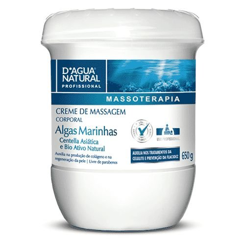 Creme de Massagem Algas 650g D'Agua Natural