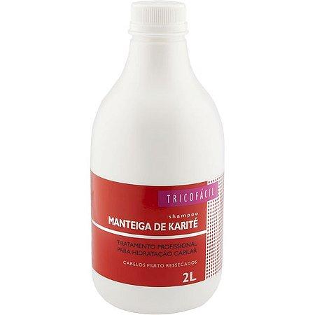 Shampoo de Manteiga de Karité Sem Sal Profissional 2l TricoFácil