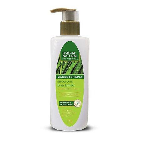 Gel Esfoliante Erva-Limão Corpo e Rosto 375g D'Agua Natural