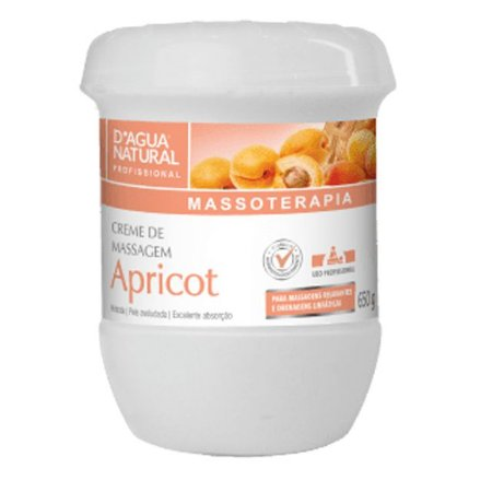 Creme Apricot 650g D'Agua Natural