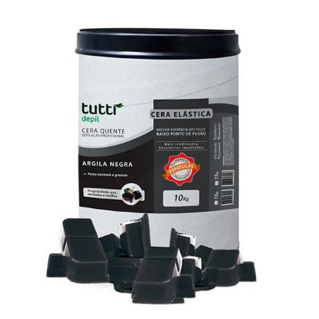 Cera Profissional Argila Negra 10kg Tutti Depil