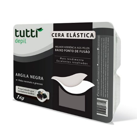 Cera Elástica Argila Negra 1kg Tutti Depil