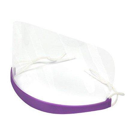 Protetor Facial Descartável 50 Protetores e 01 Suporte Santa Clara