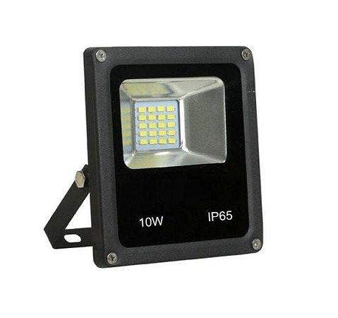 Refletor Holofote MicroLed SMD Slim 10W Branco Frio