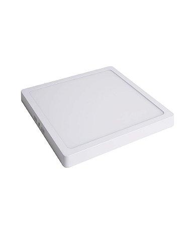 Plafon Led de SOBREPOR QUADRADO  18W  Branco Quente 3000K