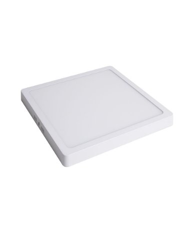 Plafon Led de SOBREPOR QUADRADO  24W Branco Frio 6000K