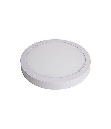 Plafon Led de SOBREPOR REDONDO 18W - 22,0 cm Branco Frio 6000K
