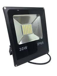 Refletor Holofote Microled Slim 30W Branco Frio
