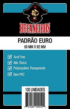 SLEEVES BUCANEIROS: PADRÃO EURO (59 X 92mm) - PACOTE C/ 100