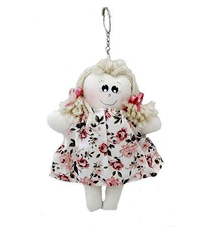 Luiza bonequinha de pano - chaveiro