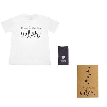 Kit - Camiseta branca + Caderneta