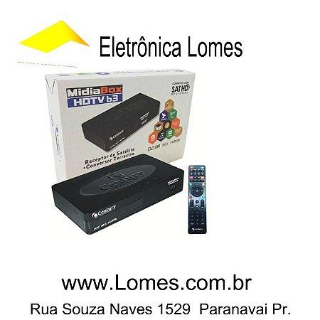 MidiaBox HDTV sat hd b3 Receptor Digital